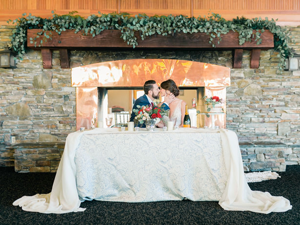 Wedding Sweetheart Table - Mandy Ford Photography