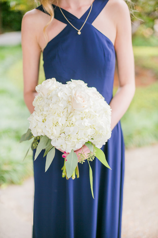White Rose bridesmaid Bouquet - Allison Nichole Photography