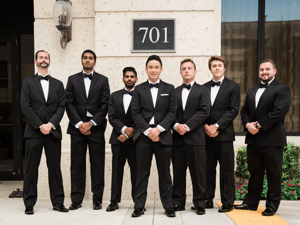 Groomsman in black tuxedos - Flashy Mama Photography