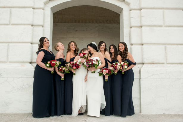 Bridal Party Matching Bouquets - Jean Smith Photography