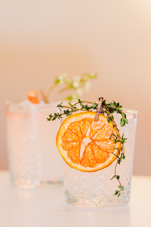 Citrus Wedding Signature Drink - Holley Elizabeth Photography
