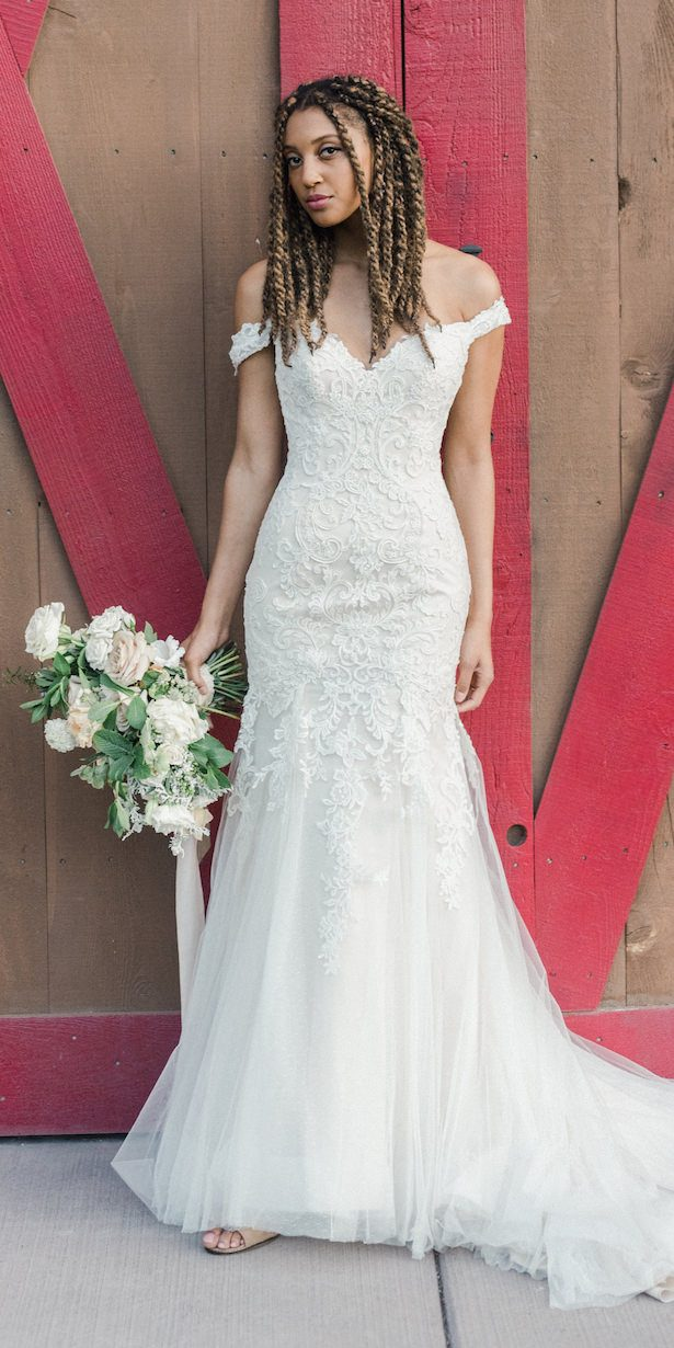 Country Rustic Lace Wedding Dress by Maggie Sottero Designs