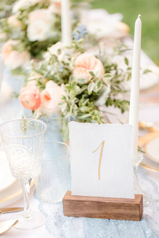 Wedding Table number - Idalia Photography