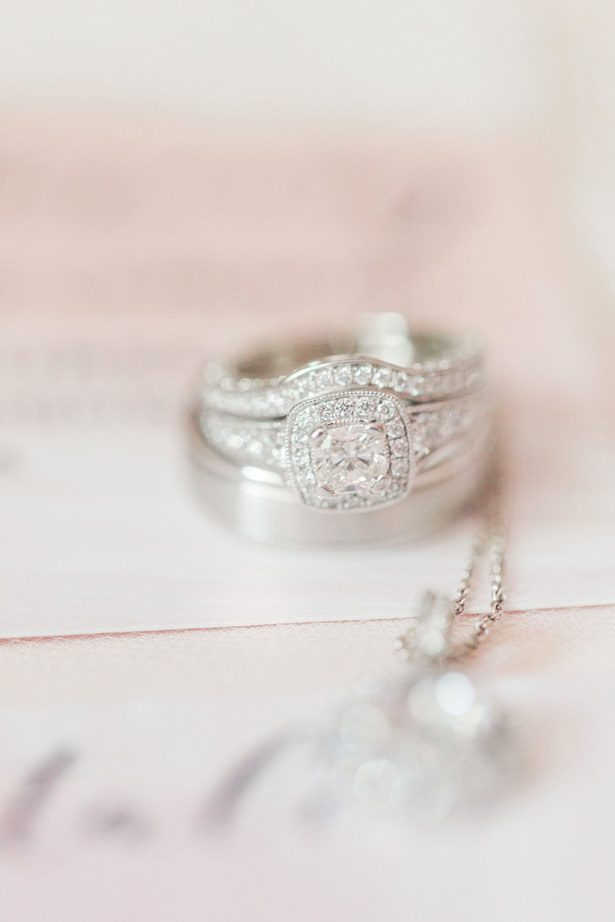 Cushion Halo Wedding Ring - Alisha Marie Photography