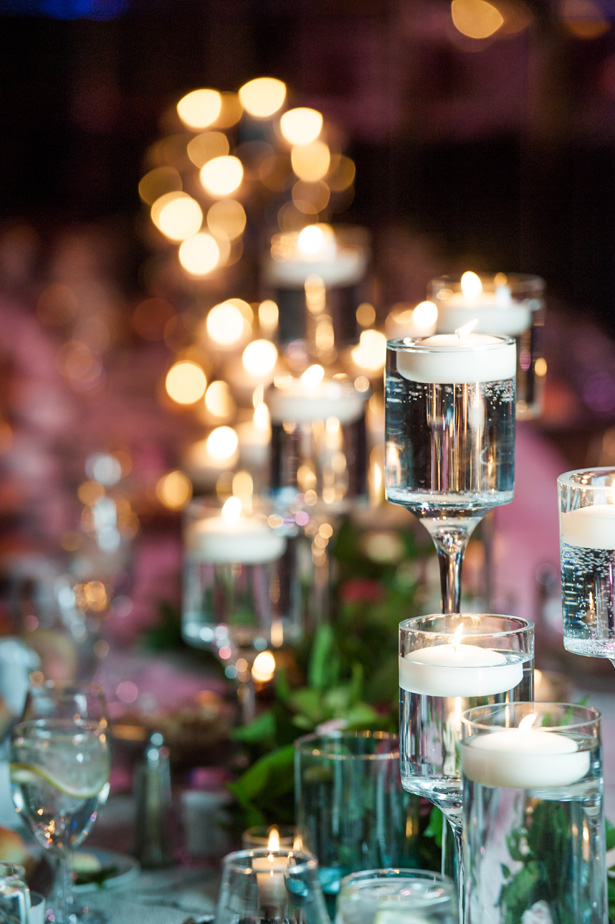 Elegant Wedding Table Candles - Jean Smith Photography