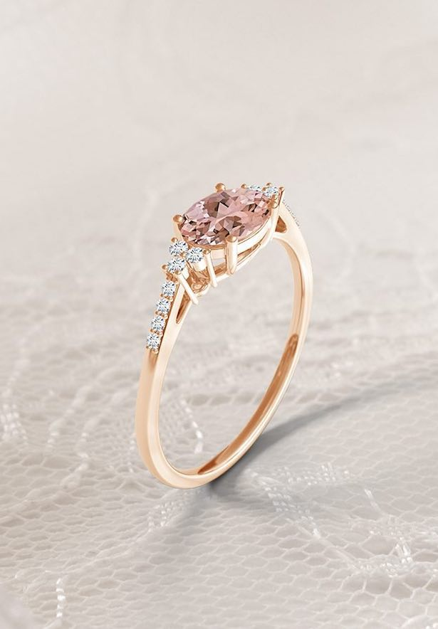 Engagement Ring Trends with Angara - East West style