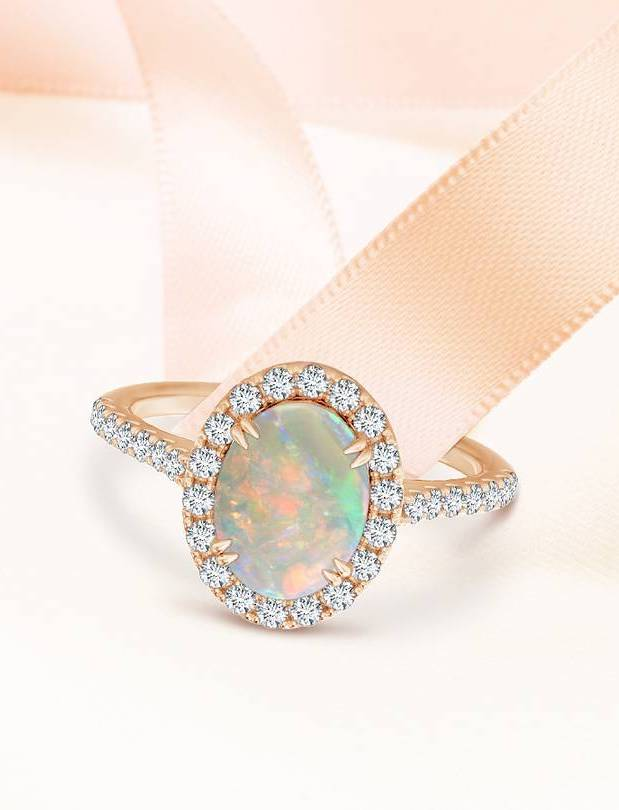 Engagement Ring Trends with Angara - Opal