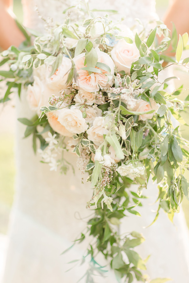 Cascading Wedding Bouquet - Idalia Photography