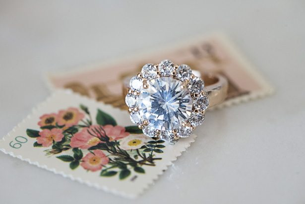 Halo Diamond Wedding Ring - Tina Joiner Photography