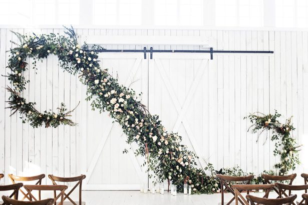 Huge Greenery Wedding Garland - Tina Joiner Photography