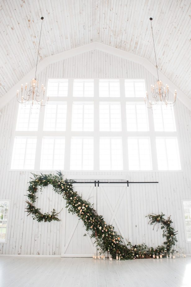 Huge Greenery Wedding Garland With Roses - Tina Joiner Photography