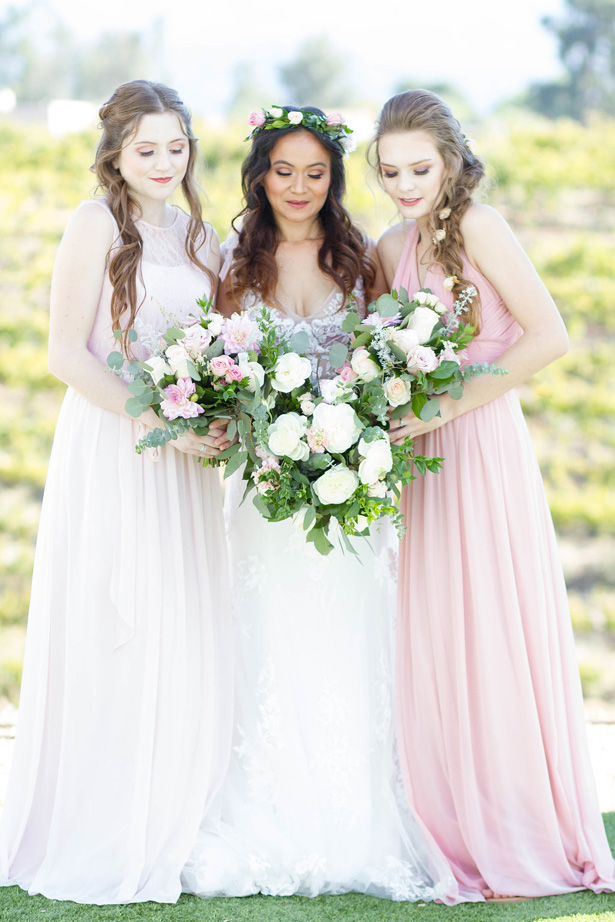Long blush bridesmaid dresses - Janita Mestre Photography
