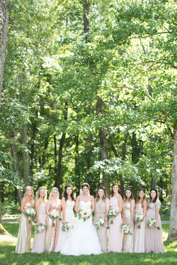 Mismatch Bridal Party Dresses - Shane Hawkins Photography