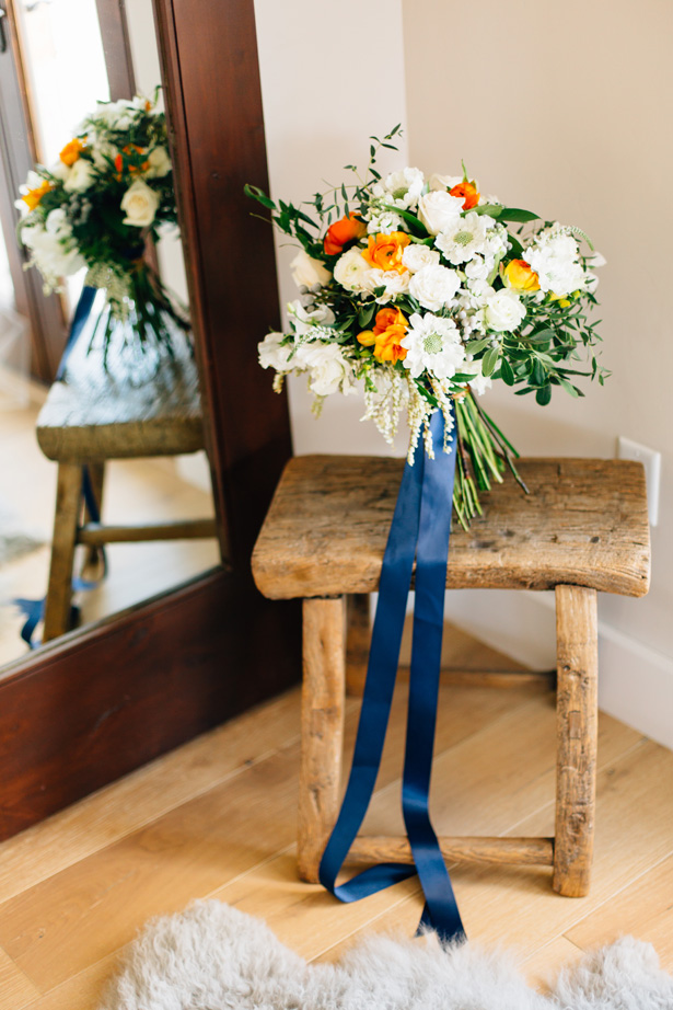 Modern Citrus Wedding Bouquet - Holley Elizabeth Photography