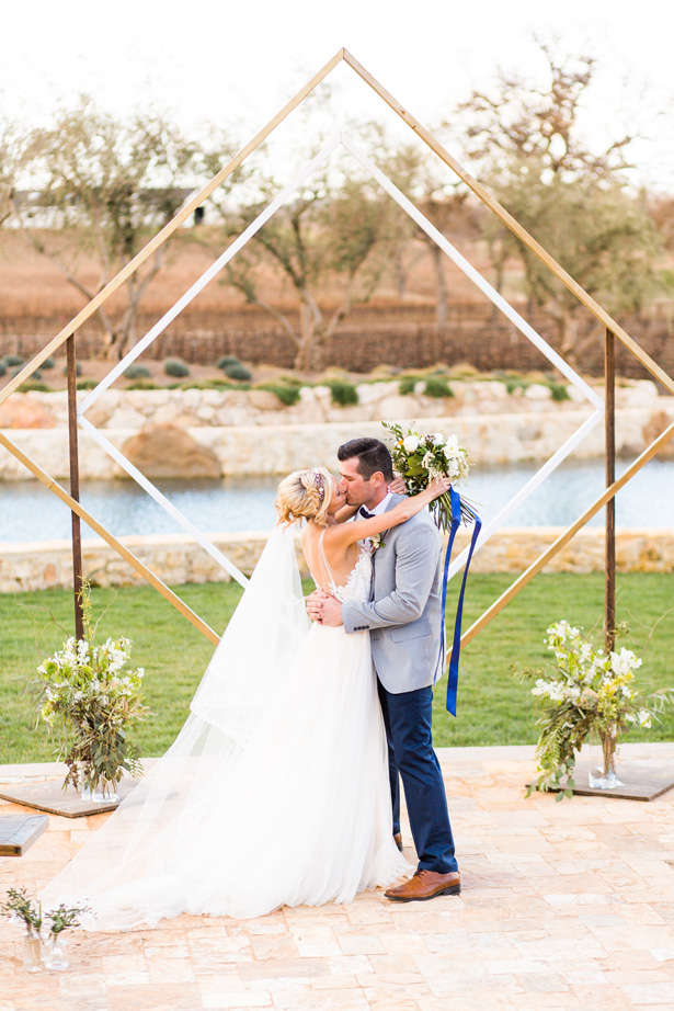 Modern Citrus Wedding Ceremony Decor - Holley Elizabeth Photography