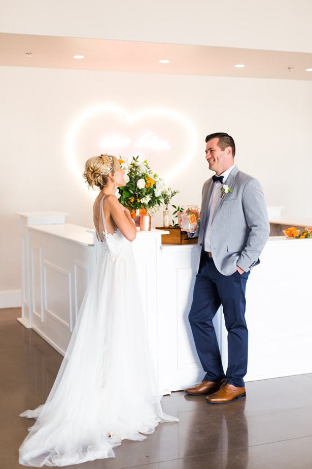 Modern Citrus Wedding Decor - Holley Elizabeth Photography