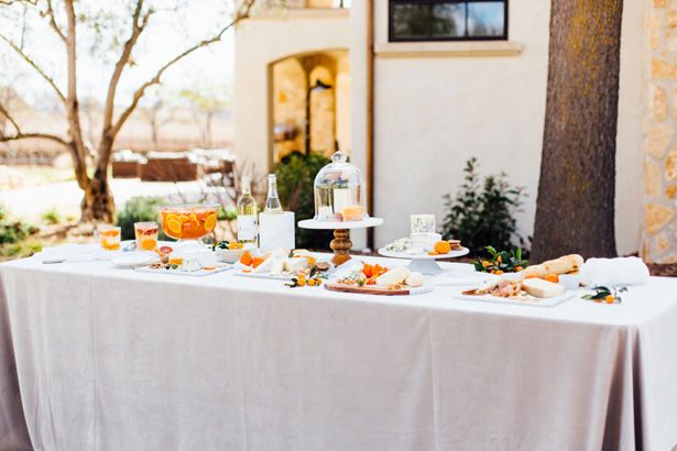 Modern Citrus Wedding Desert Table - Holley Elizabeth Photography