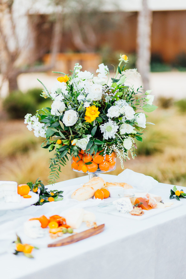 Modern Citrus Wedding Flowers - Holley Elizabeth Photography