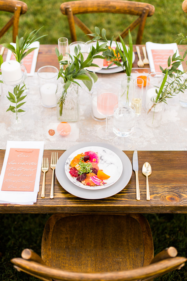Modern Citrus Wedding Food - Holley Elizabeth Photography