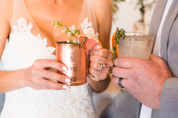 Modern Citrus Wedding Signature Drink  - Holley Elizabeth Photography