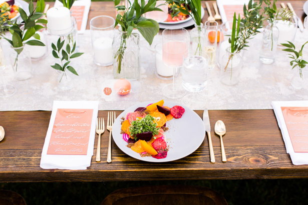 Modern Citrus Wedding Tablescape Details - Holley Elizabeth Photography