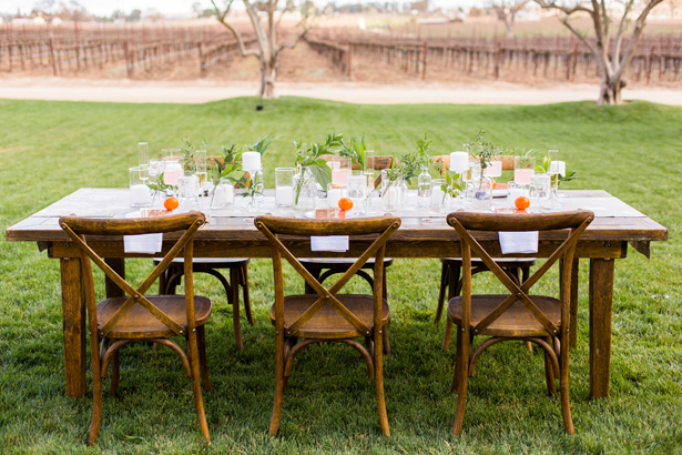 Modern Citrus Wedding Tablescape - Holley Elizabeth Photography