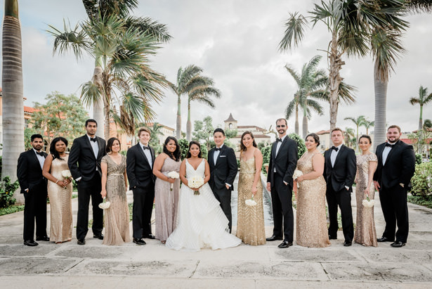 Modern Palm Beach wedding - Wedding party photo - Flashy Mama Photography