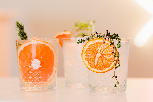 Orange Wedding Signature Drink - Holley Elizabeth Photography