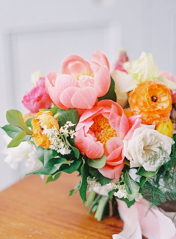 Peony wedding bouquet - Whitney Heard Photography