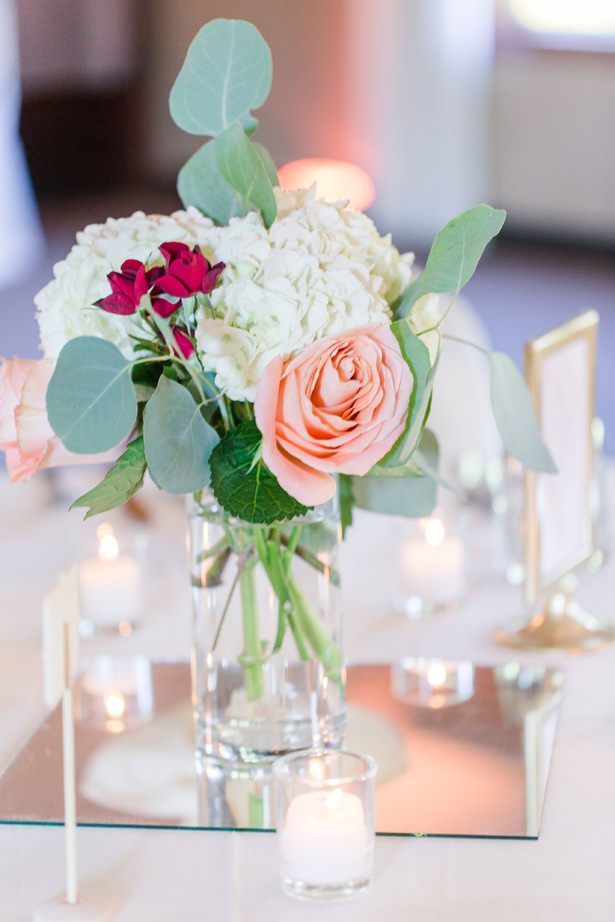 Pretty Wedding Table Centerpiece - Alisha Marie Photography