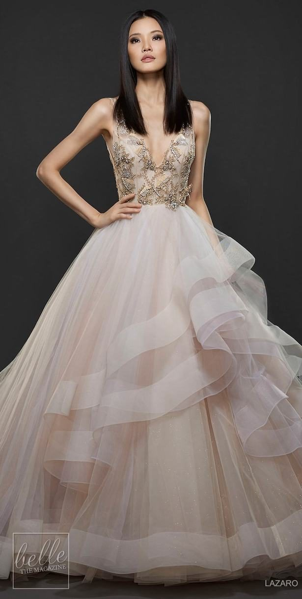 Princess Ball Gown Wedding Dress - Lazaro