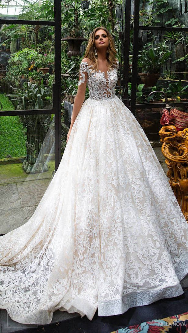 Princess Ball Gown Wedding Dress - Milla Nova