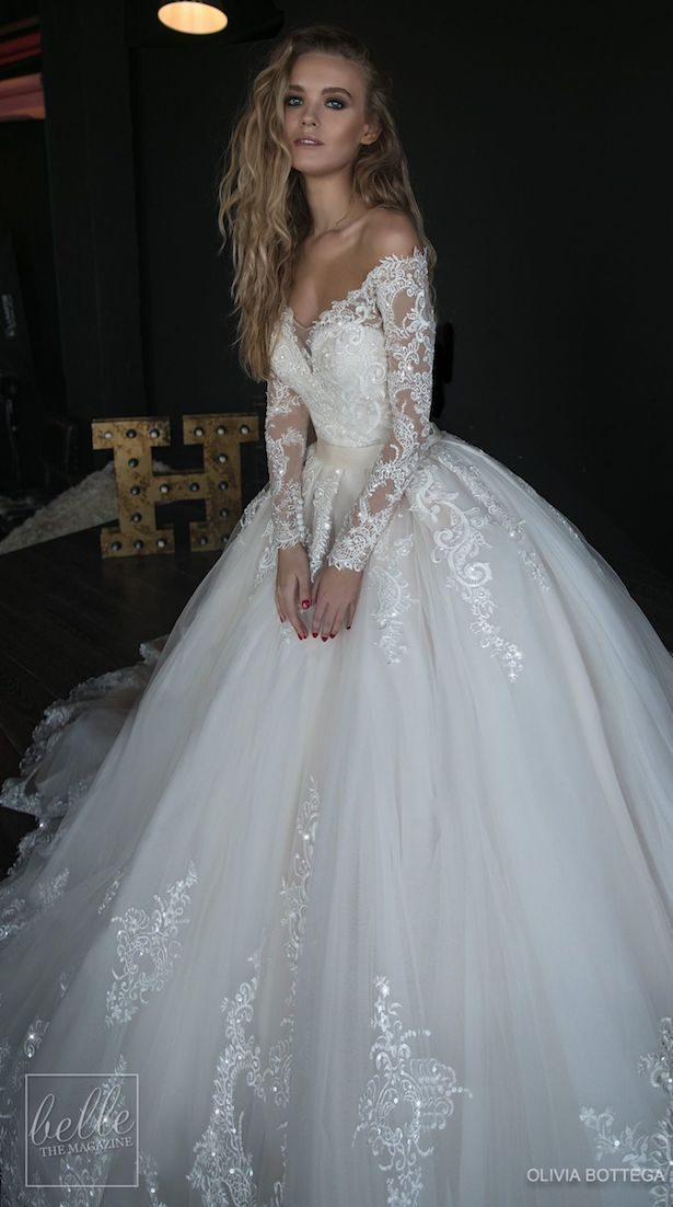 Princess Ball Gown Wedding Dress - Olivia Bottega