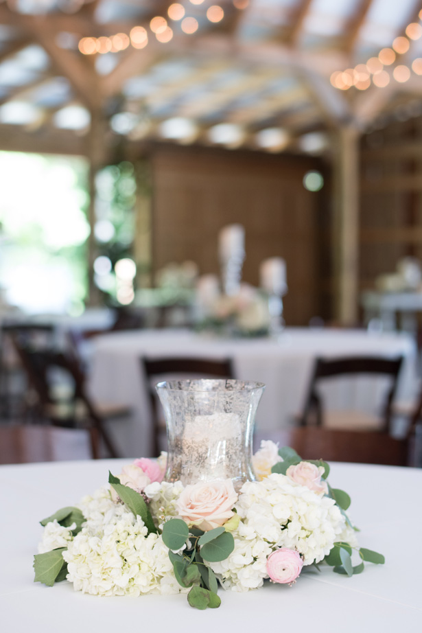 Rustic and romantic wedding Centerpiece - Shane Hawkins Photography