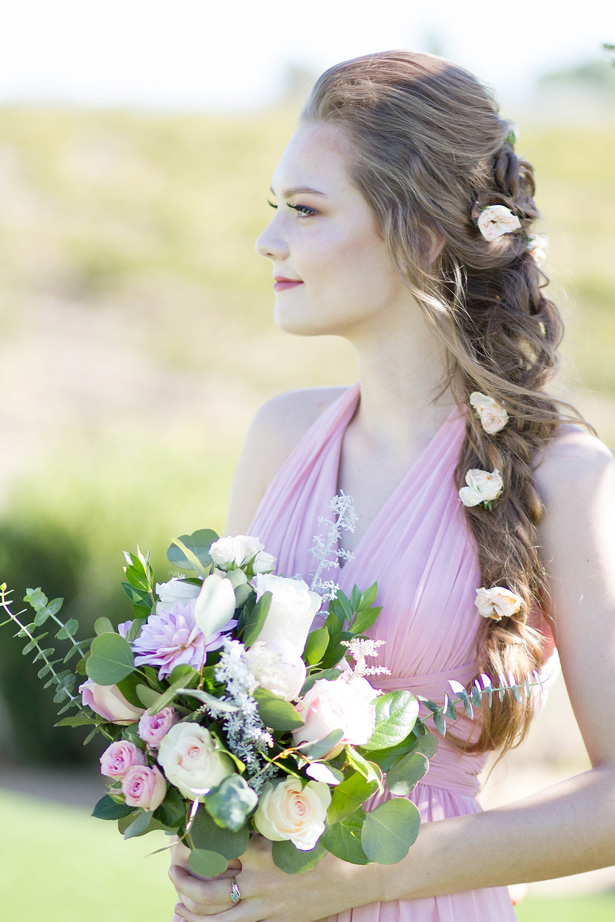 Side braid wedding hairstyle - Janita Mestre Photography