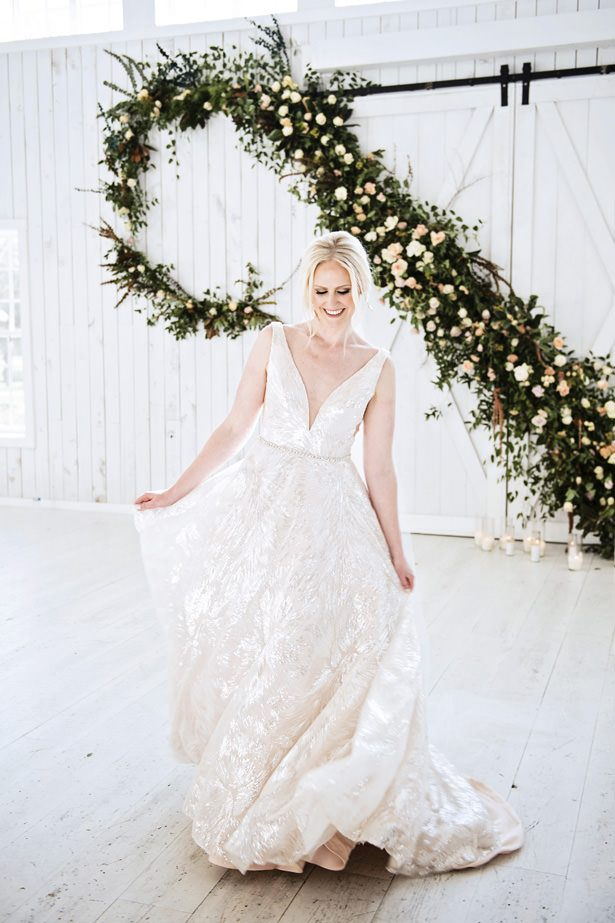 Sparkling Ballgown Wedding Dress - Tina Joiner Photography