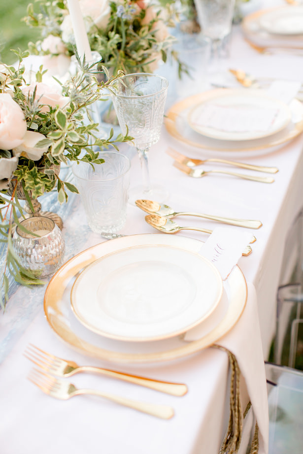Spring wedding tablescape details - Idalia Photography