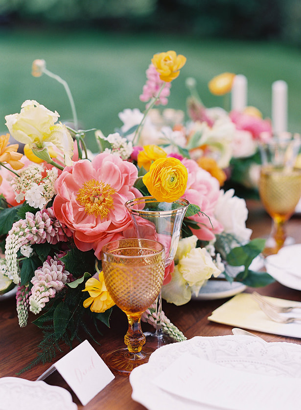 Spring Wedding Tablescape Details - Whitney Heard Photography