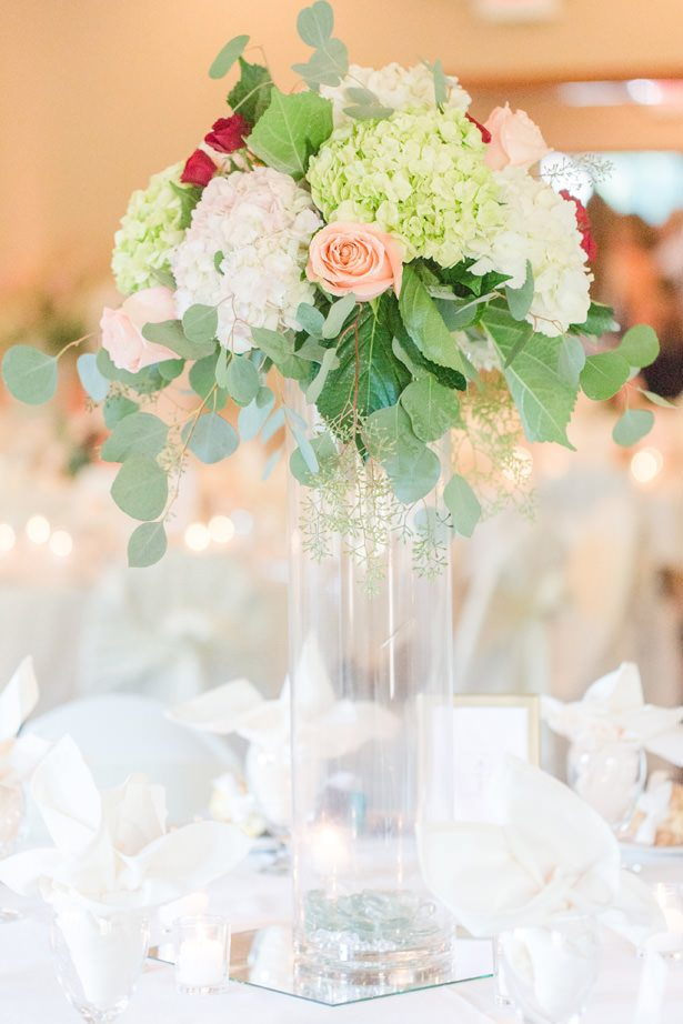 Tall Wedding Centerpiece - Alisha Marie Photography