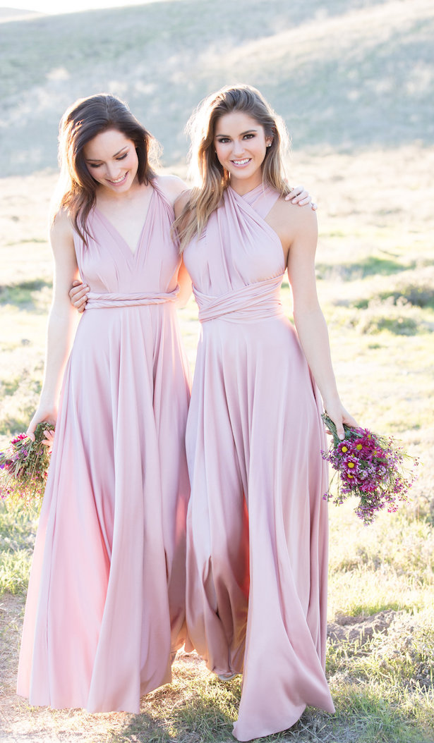 The Secrets Of Successful Mismatched Bridesmaid Dresses With Allure Bridals Long Light Pink Bridesmaids Gowns