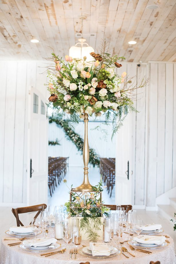 Tall Wedding Centerpiece - Tina Joiner Photography