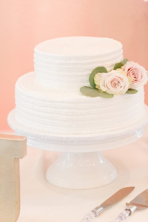 White Wedding Cake - Alisha Marie Photography