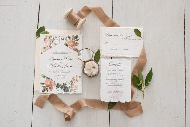 vintage wedding invitation - Tina Joiner Photography