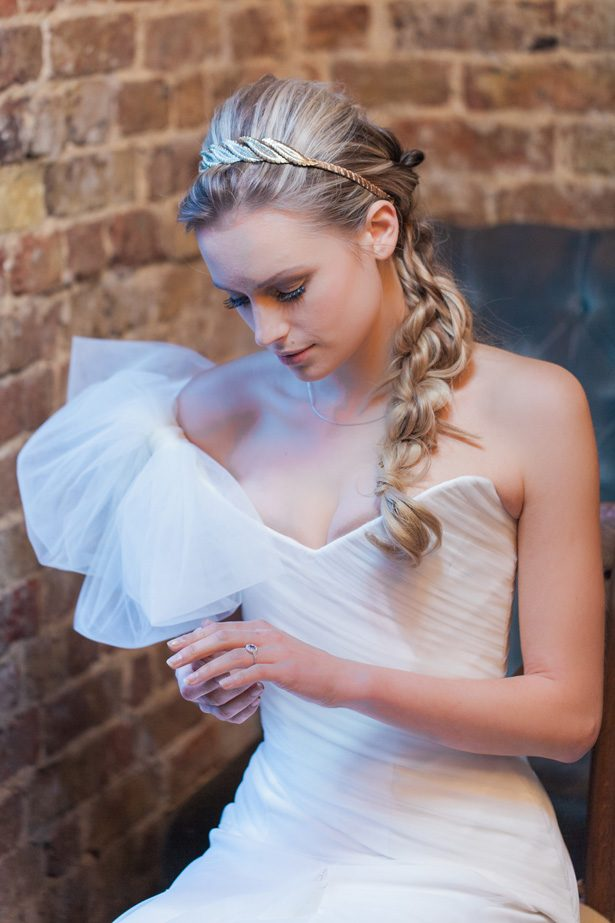 Bridal makeup and wedding hair with braid - Amanda Karen Photography