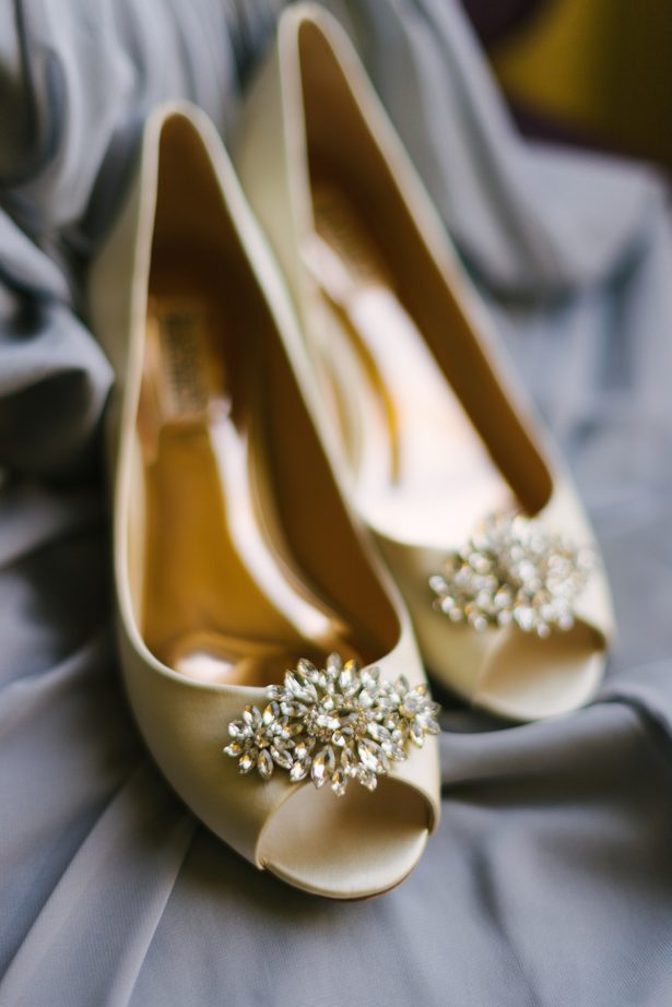 Gold Wedding Shoes - Anna Smith Photo