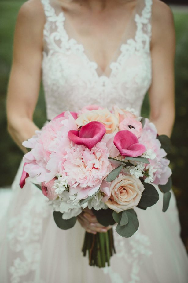Pink wedding bouquet - Dani Leigh Photography