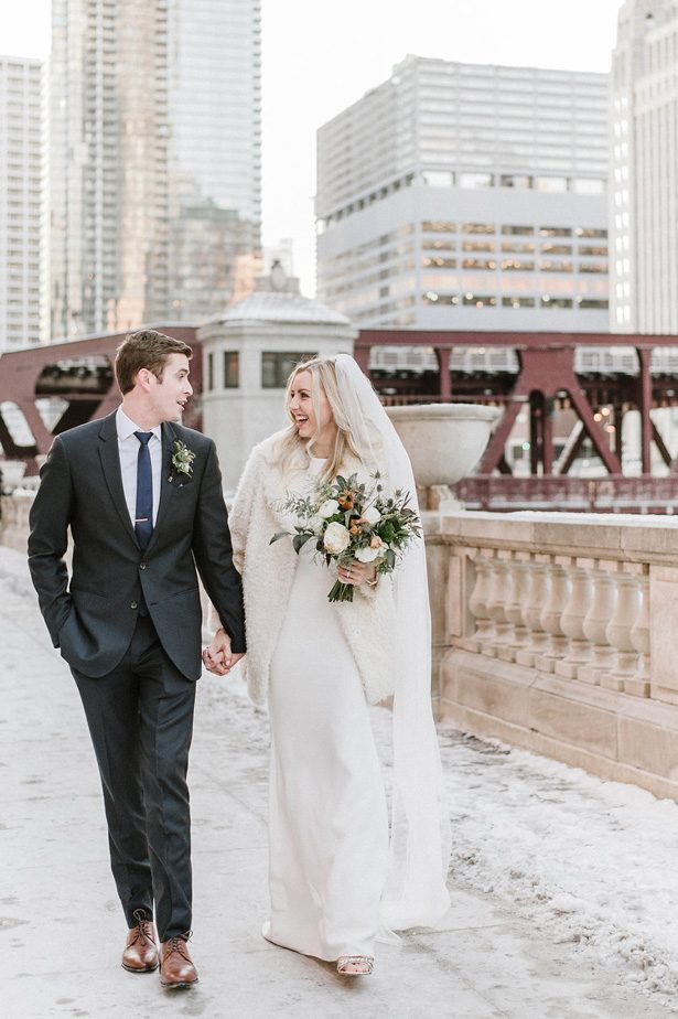 Romantic winter wedding photo- Nicole Jansma Photography