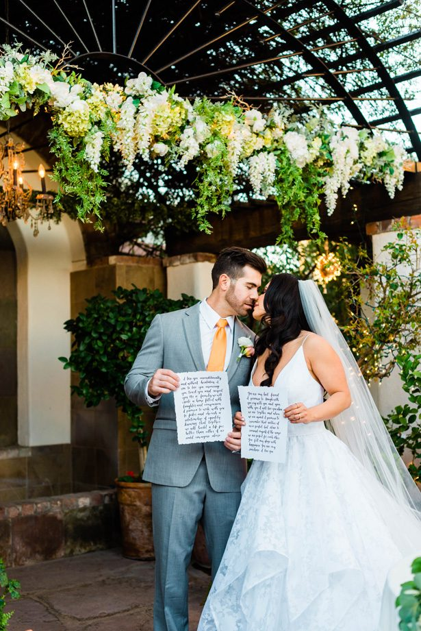 Wedding Ceremony vows - M.Hutchison Photography