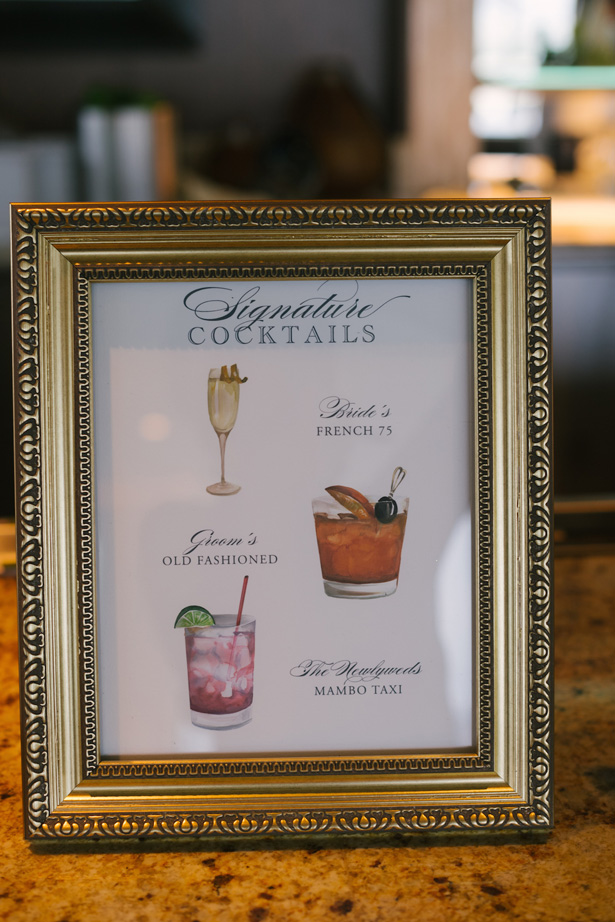 Wedding Signature Drink Sign - Anna Smith Photo