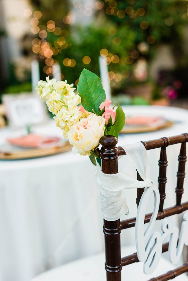 Wedding chair decor - M.Hutchison Photography